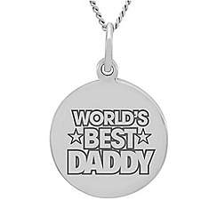 Precious Moments - Sterling Silver 'World's Best Daddy' Message Pendant