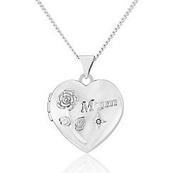 Precious Moments - Sterling Silver Diamond Set 'Mum' Locket