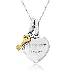 Precious Moments - 9ct White And 9ct Yellow Gold Message Locket