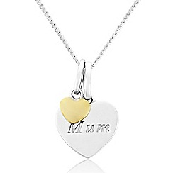 Precious Moments - Sterling Silver  9ct Gold Plated 'Mum' Pendant
