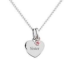 Precious Moments - Sterling silver stone set 'Sister' pendant