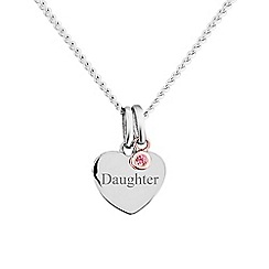 Precious Moments - Sterling silver stone set 'Daughter' pendant
