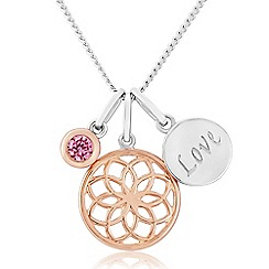 Precious Moments - Sterling Silver And Rose Plated Pendant
