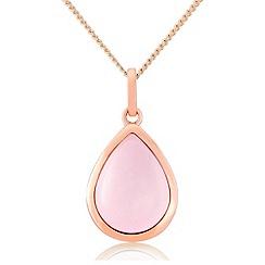 Precious Moments - Rose gold plated quartz ladies pendant