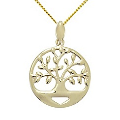 Precious Moments - 9ct Gold 'Family Tree' ladies pendant