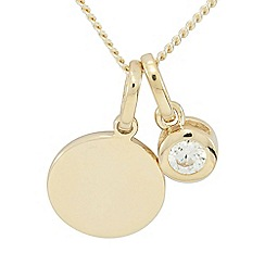 Precious Moments - 9ct Gold Plated on Silver Birthstone Coloured Stone Pendant