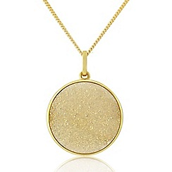 Precious Moments - 9ct Gold Plated Drusy Pendant