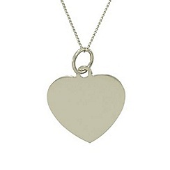 Precious Moments - 9ct white gold heart ladies pendant