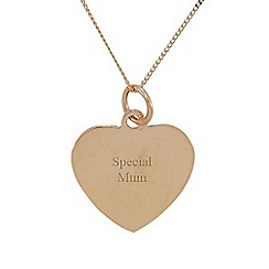 Precious Moments - 9ct rose gold 'special mum' ladies pendant
