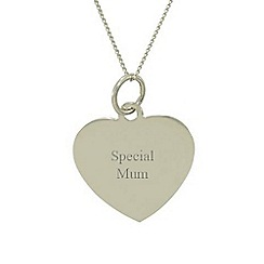 Precious Moments - 9ct white gold 'special mum' ladies pendant