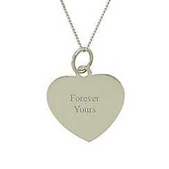 Precious Moments - 9ct white gold heart ' forever yours' ladies pendant
