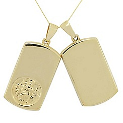 Precious Moments - 9ct gold christopher twin gents pendant