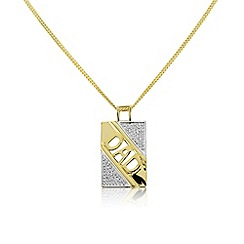 Precious Moments - Gold plated diamond set 'Dad' pendant