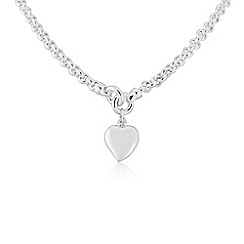 Love Story - Sterling silver heart necklace