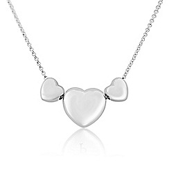 Love Story - Sterling silver triple heart pendant