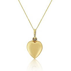 Love Story - 9ct yellow gold heart pendant