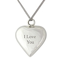 Precious Moments - Sterling silver heart chime 'I love you' pendant