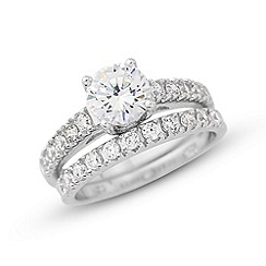 Love Story - Fabulous silver dress ring set