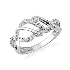 Love Story - 9ct white gold diamond dress ring