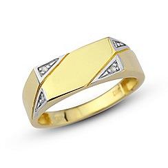 Precious Moments - 9ct yellow gold gents diamond ring