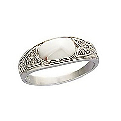 Precious Moments - Sterling silver gents diamond set signet ring