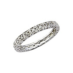 Love Story - 9ct white gold eternity ring set with diamonds