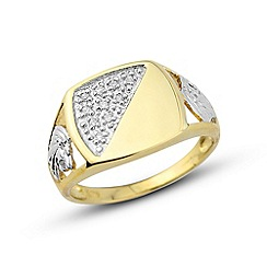 Love Story - 9ct gold gents ring