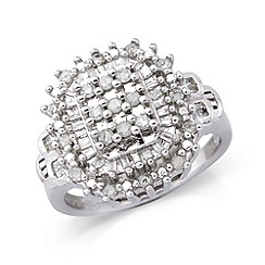 Love Story - Silver diamond dress ring