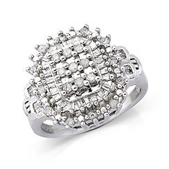 Love Story - Silver diamond dress ring