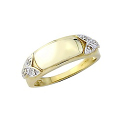 Precious Moments - 9ct gold plated silver ladies diamond set ring