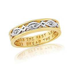 Precious Moments - 9ct Gold Plated On Silver Ladies Commitment Ring