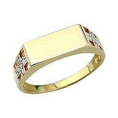Precious Moments - 9ct gold plated on silver diamond 'Dad' ring