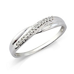 Love Story - Ladies 9ct white gold diamond dress ring