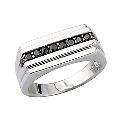 Love Story - Sterling silver & black onyx ring