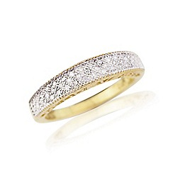 Precious Moments - Sterling silver, gold plated diamond ring with message