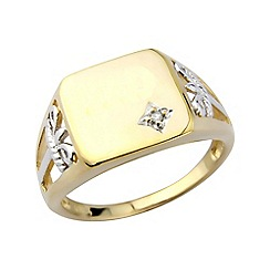 Love Story - Silver gold plated diamond ring