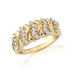 Precious Moments - Sterling silver and gold plated diamond set ring