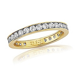 Precious Moments - 9ct Yellow Gold, Stone-Set Eternity Ring