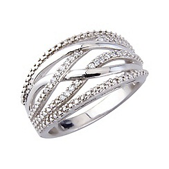Love Story - Silver stone set dress ring