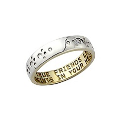 Pawprints - Pawprints gold plated 'True friends' ring