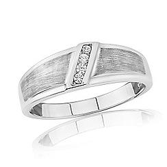 Love Story - Sterling Silver Gents Stone Set Dress Ring