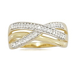 Love Story - 9ct Gold 0.15ct Diamond Ladies Ring