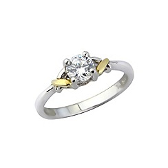 Love Story - Silver and 9ct gold stone set