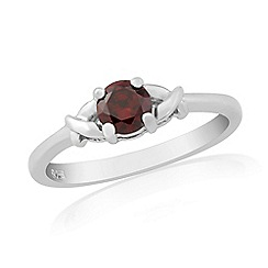 Precious Moments - Sterling silver red cubic zirconia 'kiss' ring