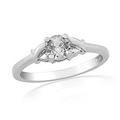 Precious Moments - Sterling silver spinel 'kiss' ring