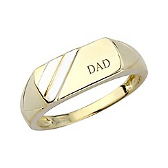 Precious Moments - Gents 9ct gold 'Dad' signet ring
