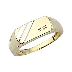 Precious Moments - Gents 9ct gold 'Son' signet ring