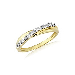 Love Story - 9ct gold diamond set dress ring