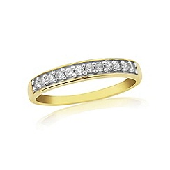 Love Story - 9ct gold ladies half eternity diamond set ring