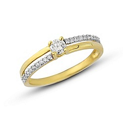 Love Story - 9ct gold and diamond ring